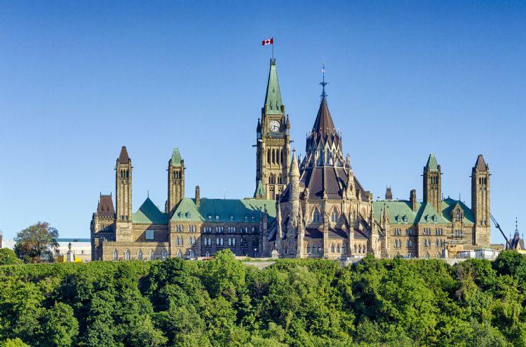 Colline du Parlement à Ottawa