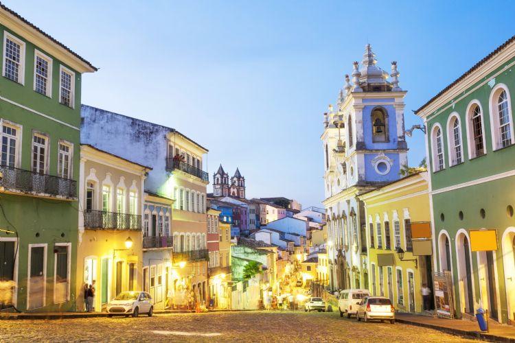 Quartier de Pelourinho à Salvador de Bahia