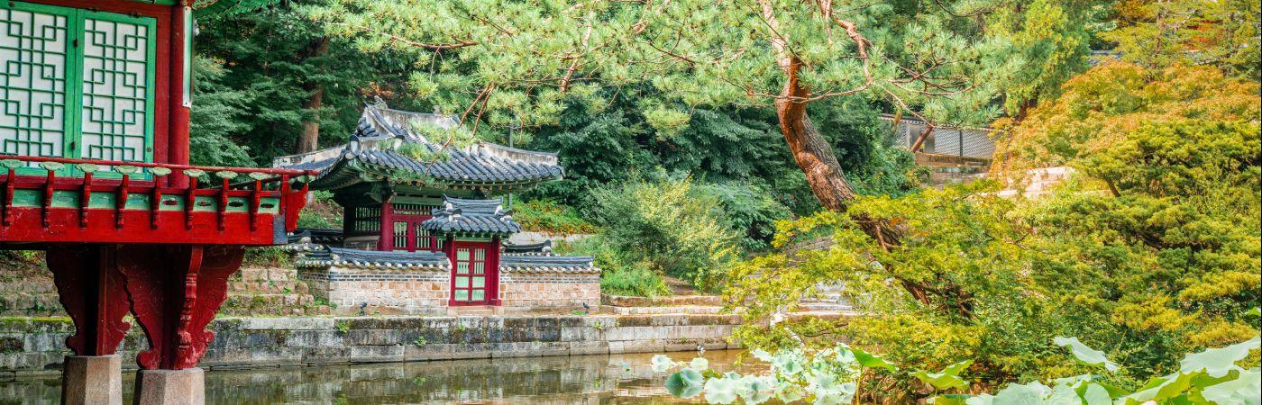Jardin secret du palais Changdeokgung à Séoul